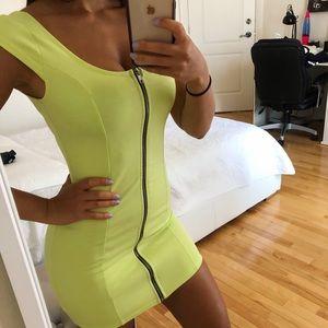 YELLOW GREEN NEON DRESS H&M SIZE 4